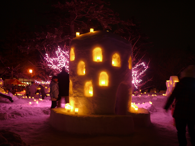 Hirosaki-Castel-Snow-Lantern-Festival